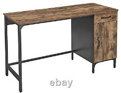 Industrial Computer Desk Large Rustic Furniture Vintage Writing Table 1 Cabinet