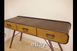 Industrial Computer Desk Reclaimed Wood Table Rustic Office Cabinet