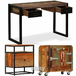 Industrial Computer Desk Reclaimed Wood Table Rustic Sideboard Office Cabinet