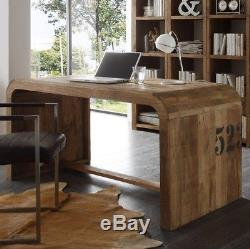 Industrial Style Office Desk Large Computer Furniture Solid Wood Vintage Table