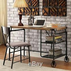 Industrial Writing Desk Vintage Retro Furniture Metal Home Office Computer Table