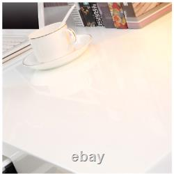 KIM High Gloss Dressing Table White Computer Desk Office Dressing Table Console