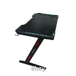 LED Gaming Desk Computer Table Laptop Home Office TABLE UK