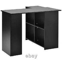 L-Shaped Corner Computer Gaming PC Desk Writting Table with Shelves Home Office
