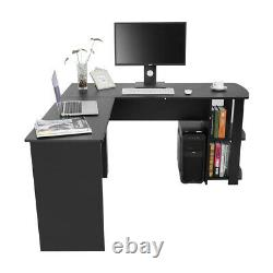 L-Shaped Large Corner Computer Desk Study Table PC Workstation Home Office W&B
