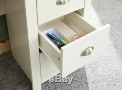 Lancaster Study Desk Computer Table With 3 Drawers And Cupboards Cream