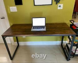Large Computer Desk Laptop Pc Writing Study Office Table Furniture Industrial
