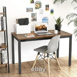 Large Writing Desk Industrial Computer Table Vintage Retro Office Study Metal PC