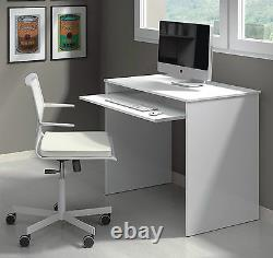Milan Compact Computer Desk Artic White Small workstation Study Table