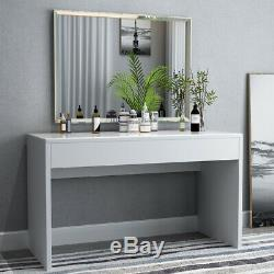Minimalism Computer Desk with Wide Drawer PC Laptop Table High Gloss Workstation