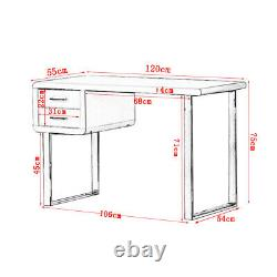 Modern White High Gloss Dressing Table Computer Desk Office Vanity Console Home