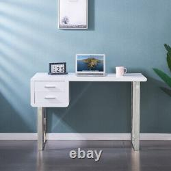 Modern White High Gloss Dressing Table Computer With Drawer Desk Office Vanity
