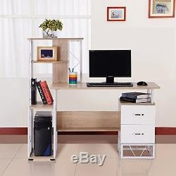Multi-Space Office Computer Desk Home Sturdy Table Work Station Study Writing