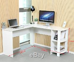NEW L-shaped Desks Computer Desk Corner PC Workstation Tables Office Desk
