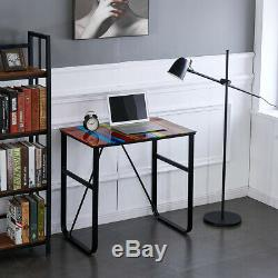 New Computer Laptop Table Desk Glass Top Study Office Home Workstation Rainbow