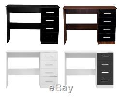 New REFLECT High Gloss 4 Drawer Vanity Dressing Table Computer Laptop Study Desk
