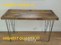 New Rustic Wood Reclaimed Pc Computer Desk Office Home Bistro Pub Table
