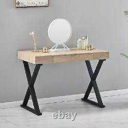 New Wooden Computer Desk with Drawer Home Office Table Workstation Freestanding