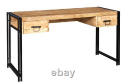 Owo Living Mosco Industrial Handicraft Reclaimed Metal & Wood Console Table Desk