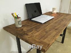PC Table/Computer Desk/Writing Desk/Reclaimed Wood/Industrial Chic/Rustic Table