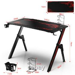 PRO Gaming Desk Home Office PC Study Writing Home Computer Table Headphones Hold
