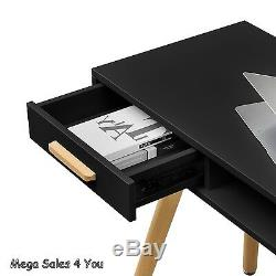 Retro Computer Writing Desk & Comfort Chair Workstation Table Strorage Drawers