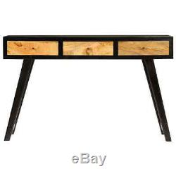 Retro Writing Desk Solid Wood Console Table Computer With 3 Drawers Home Office