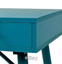 Retro Writing Desk Vintage Industrial PC Computer Console Table Metal Furniture