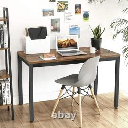 Rustic Computer Desk Industrial Style Writing Table Vintage Gaming Study PC Unit