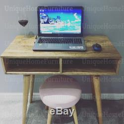 Scandinavian Computer Desk Small Writing Table Nordic Modern Solid Wood Office
