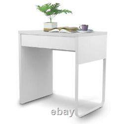 Small Computer Desk Laptop Study Writing Table Workstation with Storage Drawer