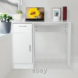 Small Computer Desk with Drawer Shelf Study Table Home Office Workstation 1 Door