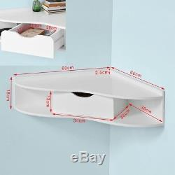 SoBuy Home Office Computer Table Desk, Wall Triangle Corner Table, FWT26-W, UK