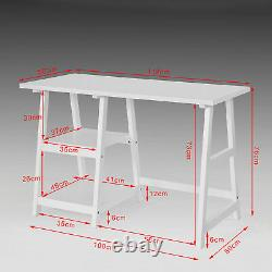 SoBuy Home Office Computer Table with Left Or Right Assembly Shelves, FWT16-W, UK