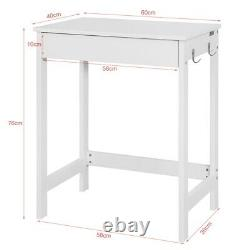SoBuy Wood White Computer PC Table Kids Study Desk with Drawer, FWT43-W, UK