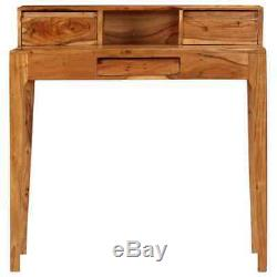 Solid acacia wood Writing Desk with Drawers 88x50x90cm Study Computer Table UK