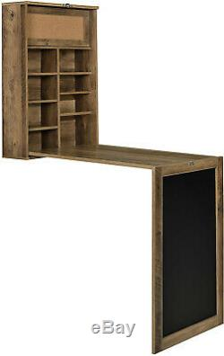 Stowaway Wall-Mounted Office Desk Chalkboard Convertible Dining Computer Table