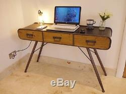 Stunning Urban Retro /vintage Console Table/computer Desk 3385