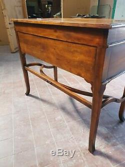 Theodore Alexander Walnut Campaign Desk Writing Table Computer/laptop Table