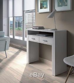 Tressa Artic White Dressing Table, Console, Dresser, Computer Desk, Sideboard