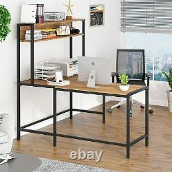 Tribesigns Corner Computer Desk L-shaped PC Table Furniture with storage shelf