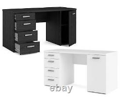 Tvilum Large PC Computer Desk / Dressing Table, with Storage. Black or White