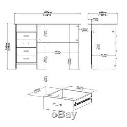 Tvilum Medium PC Computer Desk Table With 4 drawers In a White Finish