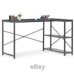 VidaXL Computer Desk Black 120cm L-shaped Office PC Writing Table Workstation
