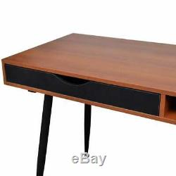 VidaXL Computer Desk Brown Laptop PC Studying Table Home Office Workstation