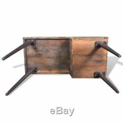 VidaXL Desk with Iron Legs Reclaimed Wood Vintage-style Entryway Console Table