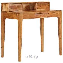 VidaXL Solid Wood Writing Desk with Drawers 88x50x90cm Study Computer Table