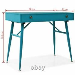 VidaXL Writing Desk with Drawer 90x50x76.5cm Antique Green Computer Table