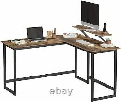 Vintage Computer Desk Executive Office Study Workstation Industrial Gaming Table