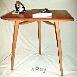 Vintage ERCOL Plank dining TABLE Extension Computer Study Writing Desk